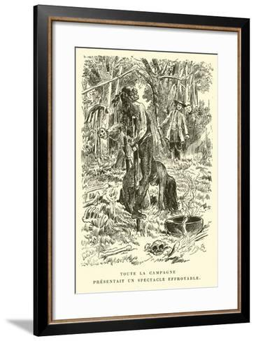 The Whole Field Presented an Appalling Spectacle--Framed Art Print