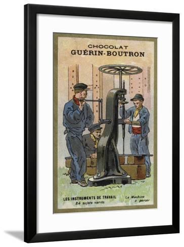 Drilling Machine--Framed Art Print