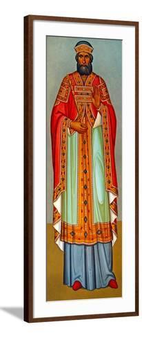 A Cypriot Priest in Ceremonial Robes, Cyprus--Framed Art Print