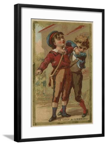 The Wolf and the Lamb--Framed Art Print