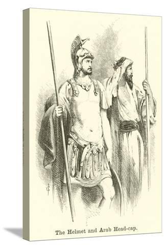 The Helmet and Arab Head-Cap--Stretched Canvas Print