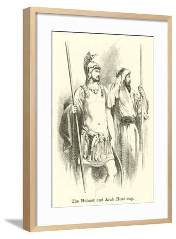 The Helmet and Arab Head-Cap--Framed Art Print