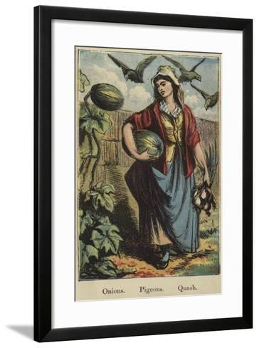 The Farmyard Alphabet--Framed Art Print