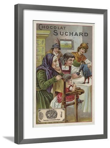 Gulliver Exhibited to the People of Brobdingnag--Framed Art Print