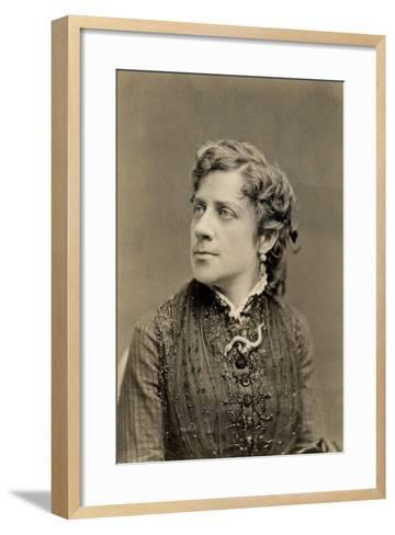 Portrait of Anna Elizabeth Dickinson C.1873--Framed Art Print