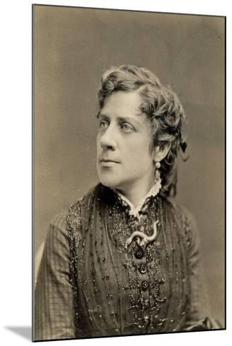 Portrait of Anna Elizabeth Dickinson C.1873--Mounted Photographic Print