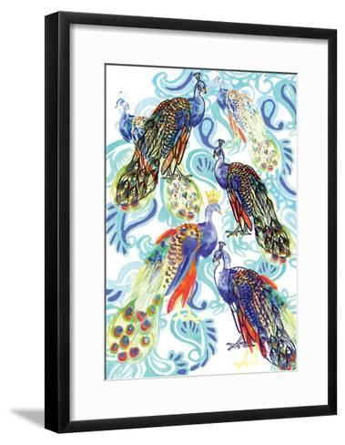 Paisley Peacock, 2013-Anna Platts-Framed Art Print