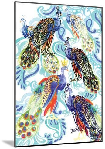 Paisley Peacock, 2013-Anna Platts-Mounted Giclee Print