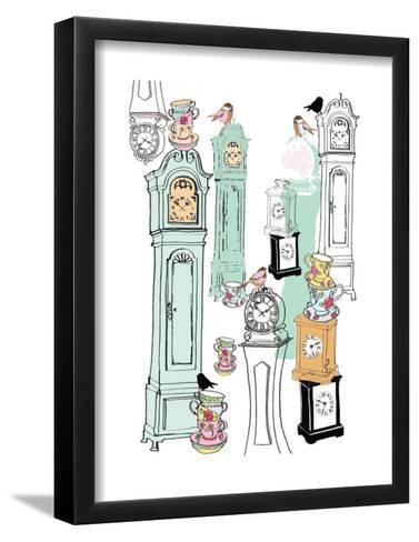 Clocks, 2013-Anna Platts-Framed Art Print