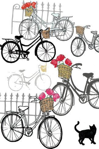 Bicycles, 2013-Anna Platts-Stretched Canvas Print