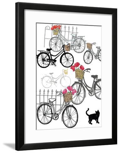 Bicycles, 2013-Anna Platts-Framed Art Print