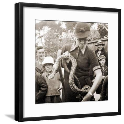 Visitors at Taronga Zoo, Sydney, Australia. 1932--Framed Art Print
