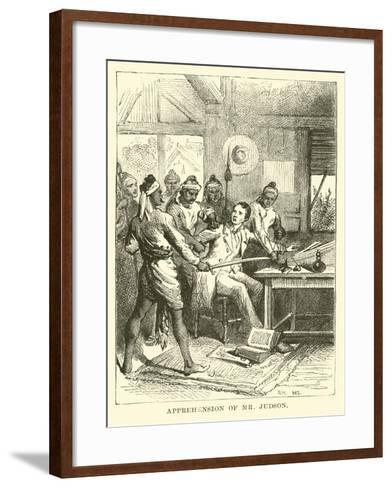 Apprehension of Mr Judson--Framed Art Print