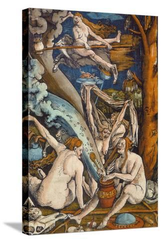 Witches, 1508-Hans Baldung Grien-Stretched Canvas Print