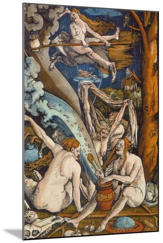 Witches, 1508-Hans Baldung Grien-Mounted Giclee Print