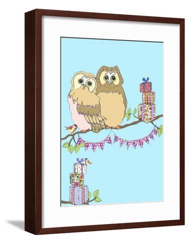 Birthday Owls, 2013-Anna Platts-Framed Art Print