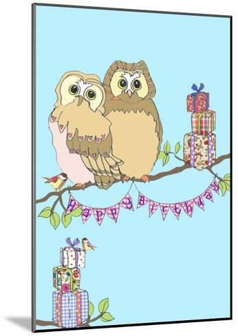 Birthday Owls, 2013-Anna Platts-Mounted Giclee Print
