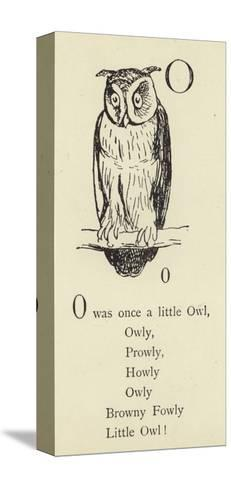 The Letter O-Edward Lear-Stretched Canvas Print
