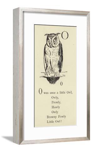 The Letter O-Edward Lear-Framed Art Print