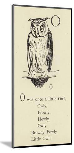 The Letter O-Edward Lear-Mounted Giclee Print