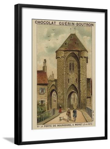Porte De Bourgogne, a Moret, Seine-Et-Marne--Framed Art Print