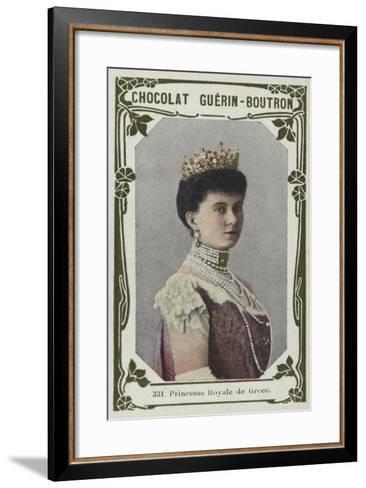 Princesse Royale De Grece--Framed Art Print