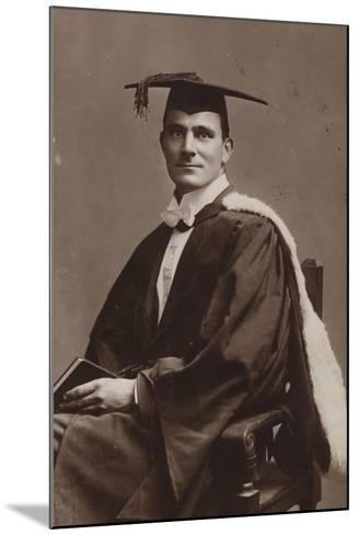 Man in Academic Costume--Mounted Photographic Print