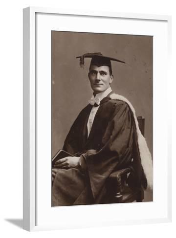 Man in Academic Costume--Framed Art Print