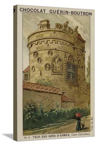 Tour Des Gens D'Armes, Caen, Calvados--Stretched Canvas Print