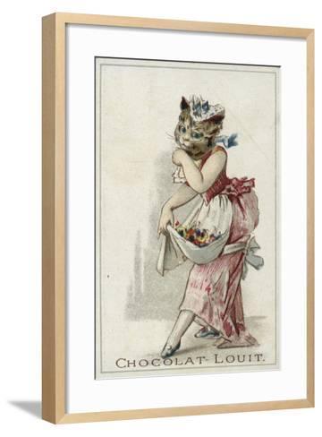 Cat Wearing a Dress--Framed Art Print
