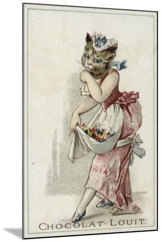 Cat Wearing a Dress--Mounted Giclee Print