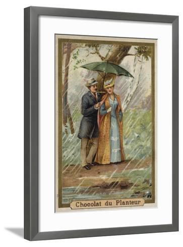 A Walk on a Rainy Day--Framed Art Print