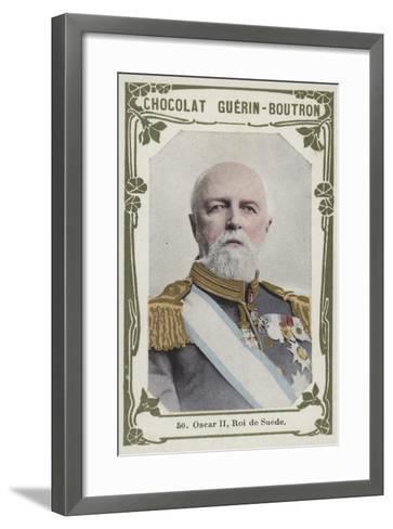 Oscar Ii, Roi De Suede--Framed Art Print