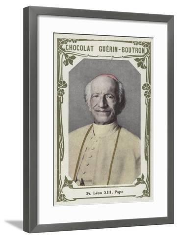 Leon XIII, Pape--Framed Art Print