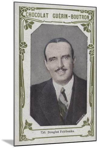 Douglas Fairbanks--Mounted Giclee Print