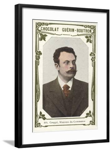 Cruppi, Ministre Du Commerce--Framed Art Print