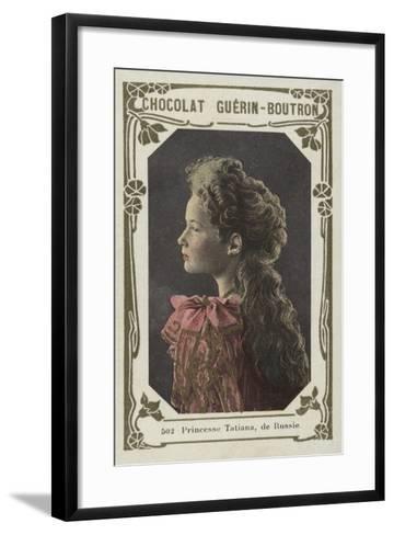 Princesse Tatiana, De Russie--Framed Art Print