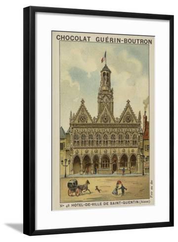 Hotel-De-Ville De Saint-Quentin, Aisne--Framed Art Print