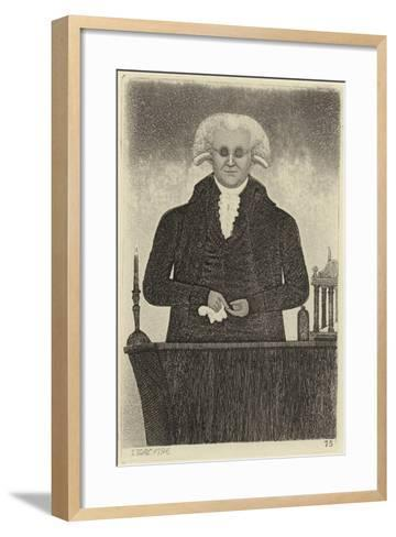 Portrait of Henry Moyes-John Kay-Framed Art Print