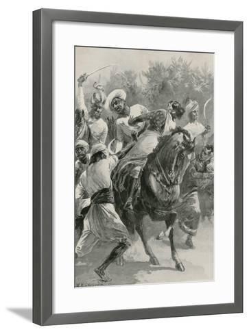 Mahratta Freebooters on a Raiding Expedition-William Heysham Overend-Framed Art Print