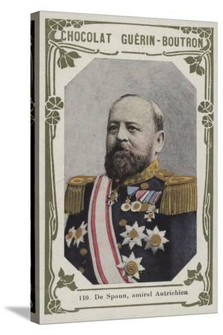 De Spaun, Amiral Autrichien--Stretched Canvas Print