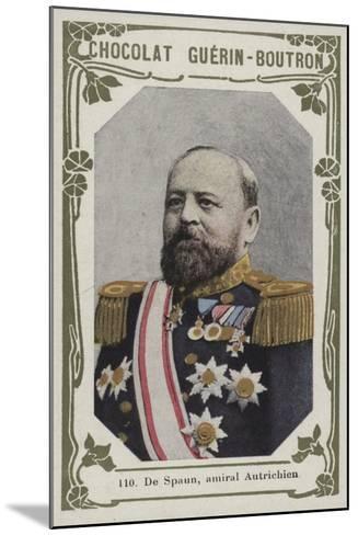 De Spaun, Amiral Autrichien--Mounted Giclee Print