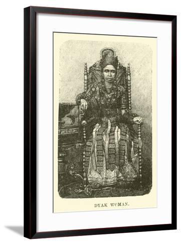 Dyak Woman--Framed Art Print