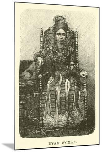Dyak Woman--Mounted Giclee Print