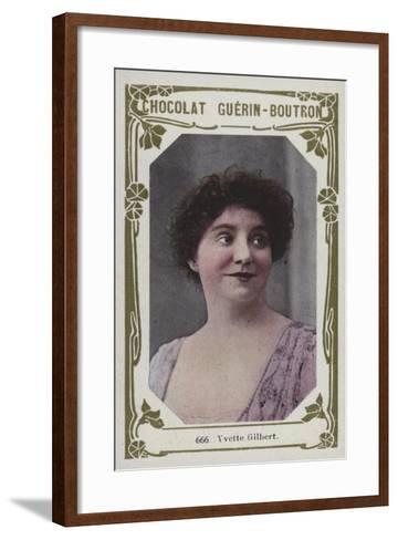 Yvette Gilbert--Framed Art Print