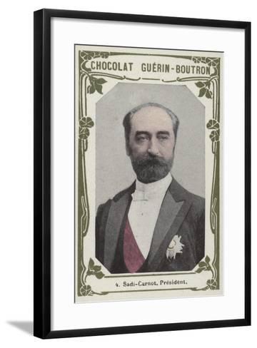 Sadi-Carnot, President--Framed Art Print