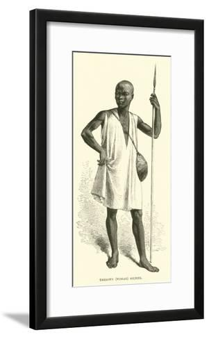 Takrown, Nubian Soldier--Framed Art Print