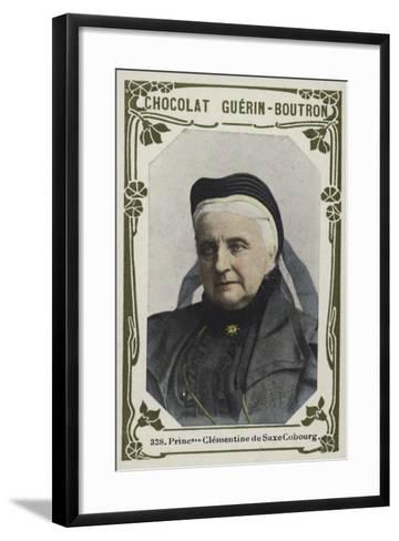 Princesse Clementine De Saxe Cobourg--Framed Art Print