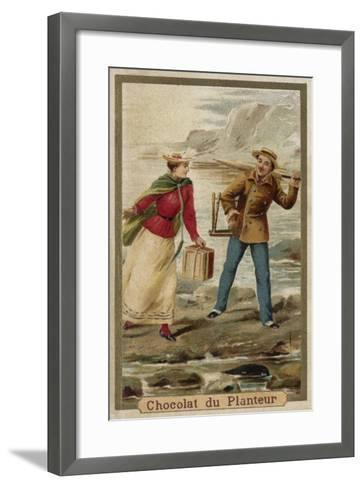 A Walk by the Seaside--Framed Art Print
