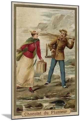 A Walk by the Seaside--Mounted Giclee Print